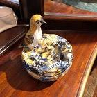 France 18th Century Faïence Candy Dish with Cover