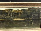 "John Court American Artist View Chester Harbor Maryland oil 17x29"""