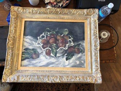 "Russell Cowles 1887-1979 American Artist ""Fruit Still Life""18x22"" oil"