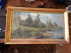 "American Landscape 11x19"" Oil German American Artist"