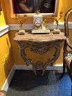 """Baroque Console Louis XIV Gilt Carved Wood Marble Top 28x19"""""""