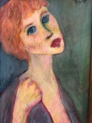 """Abstract Master Max Kassler """"My Model"""" Pastel 16x11"""""""