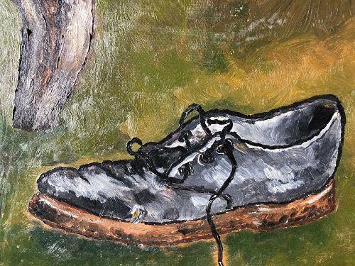 "Joe James Jamaican Master ""double sided painting"" 13x16"""