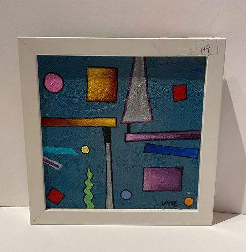 """Anne Lane American Artist Framed Painting 9x9"""""""