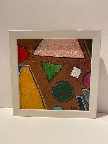 """Anne Lane American Artist Oil Painting 9x9"""" Framed"""