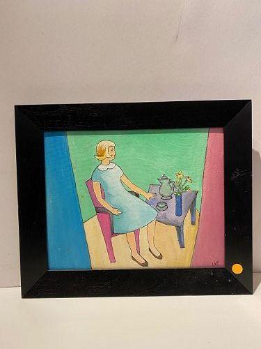 "Anne Lane American Artist Oil Painting 15x13"""
