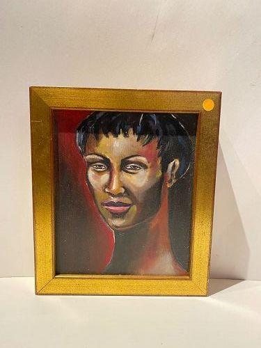 "Anne Lane American Artist, Portrait of a Woman, 15x18"" Framed"