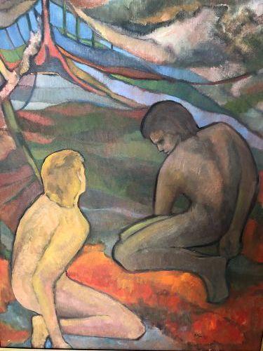 "Glenn PIZER American Master Artist ""Double Nude"" Oil 32x26"""
