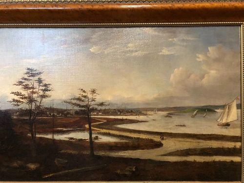 "Nineteenth Century ManhattanView From Staten Island   23x35""oil"