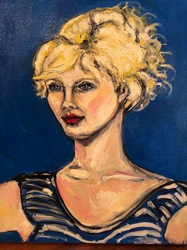 "Anne Lane Master Artist Portrait of A Woman Oil 24x20"""