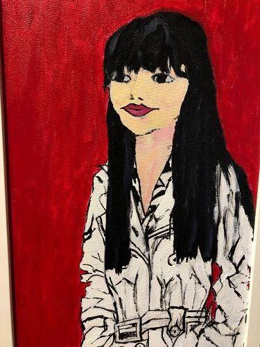 "Master Artist Anne Lane ""Fashion Series"" Oil 24x12"""