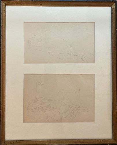 Two Drawings in Pencil, circa 1910 by Arthur Carles (1882-1952)