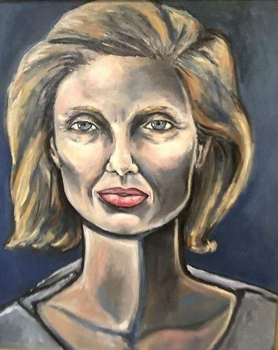 """""""Alexa II"""" Portrait By Artist Anne Lane,Oil 30x24"""""""
