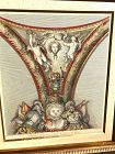 """French Ornamental Design Engraving Of The18th Century 16x14"""""""