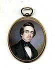 Miniature American Painting of a Gentleman  c1840