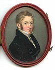 Miniature Portrait Painting c1815