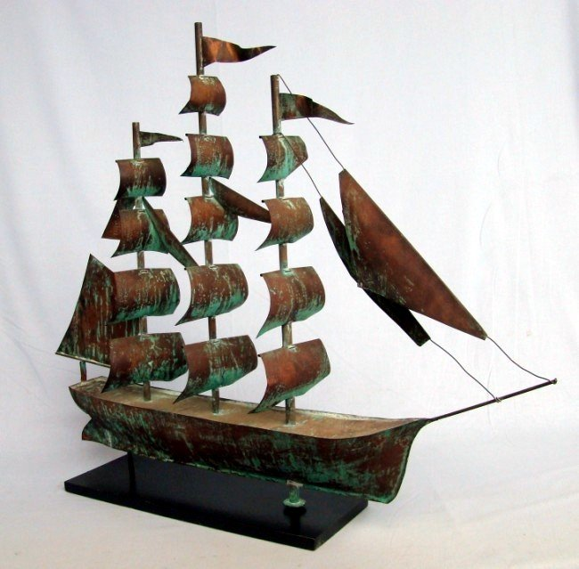 Three Masted Barque Weathervane 1st Qtr 20th C