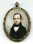 American Miniature Portrait Painting c1840