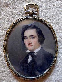 Rare Miniature Portrait by J. H. Kimberly 1844