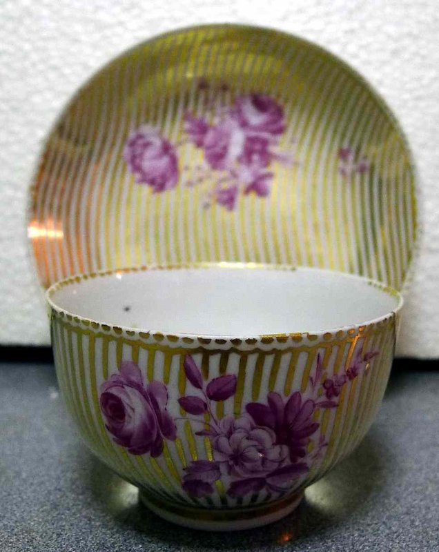 Beautiful Chelsea-Derby Porcelain Teabowl/Saucer  c1770