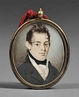 A Fine American Miniature Painting c1840