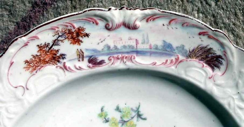 Superb Chelsea Porcelain Warren Hastings Plate c1755