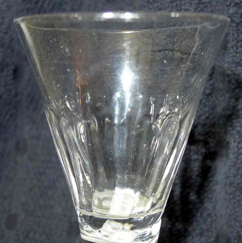 Opaque Twist Firing Dram Glass  c1765