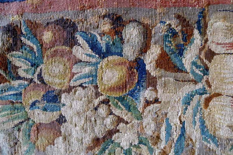 17th Century Textile Tapestry French Table Runner