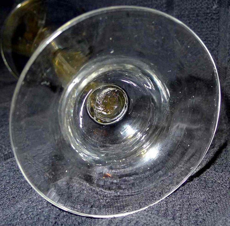 Georgian MSAT Wine Glass Domed Foot c1750