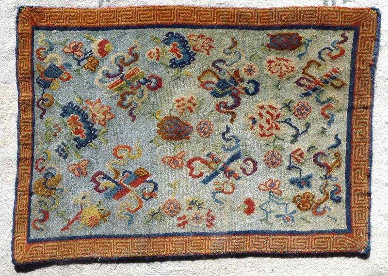 Fine Tibetan Prayer Mat 19th c