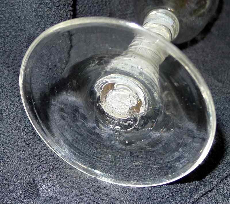 Georgian Opaque Twist Wine Glass  c1765