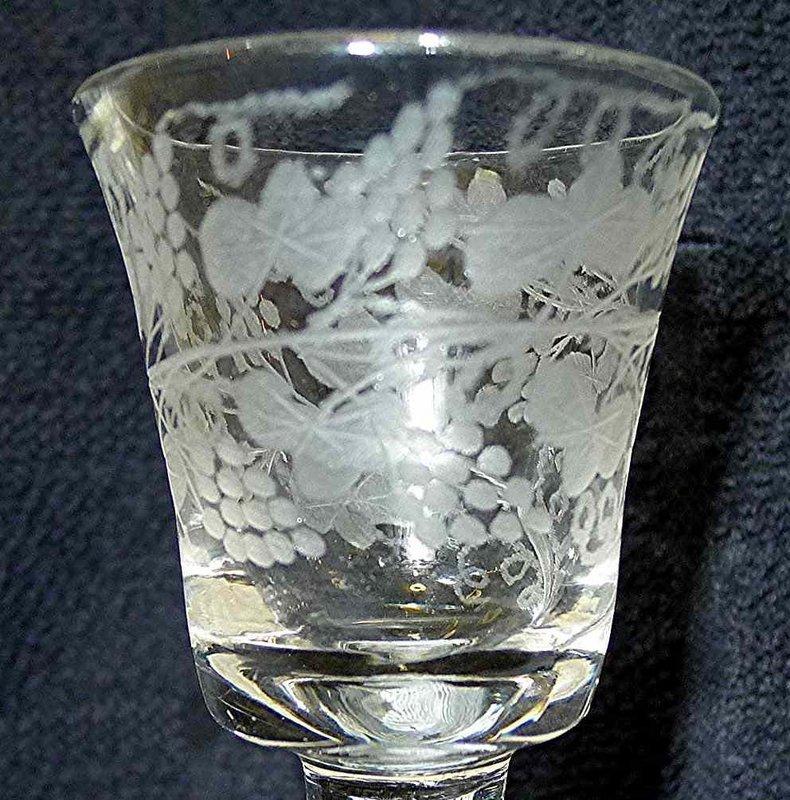 Opaque Twist English Antique Cordial Glass  c1765