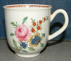 Chaffers Liverpool Porcelain Coffee Cup  c1760