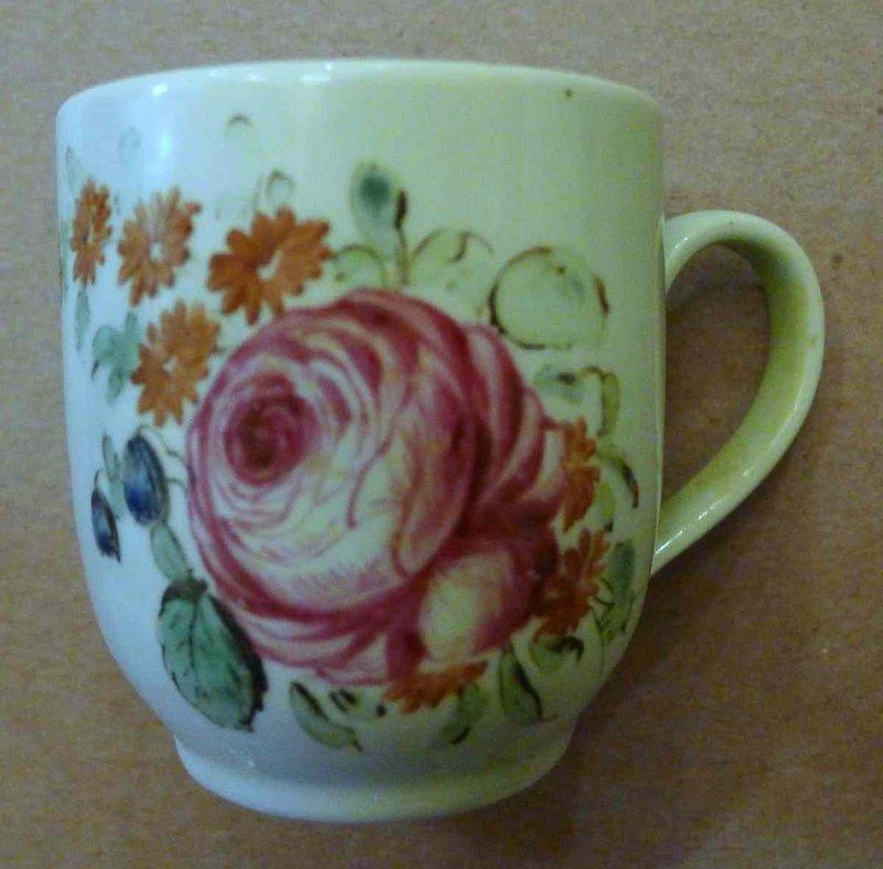 William Reid Liverpool Porcelain Coffee Cup c1758