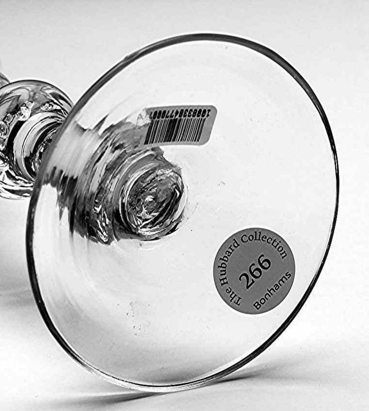 Newcastle Light Baluster Rare Trick Glass c1760