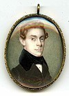 Theodore V. Peticolas Miniature Painting  c1835