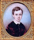 Beautiful Miniature Portrait of Child  c1850