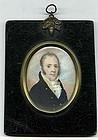 William Doyle Miniature Portrait Painting c1814