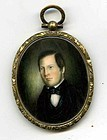 Christopher Greiner Miniature Portrait c1845