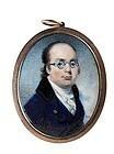 Striking Miniature of Bespectacled Man c1810