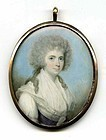 Superb John Barry Miniature Portrait c1785