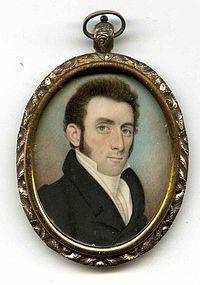 Raphaelle Peale Miniature Portrait c1815