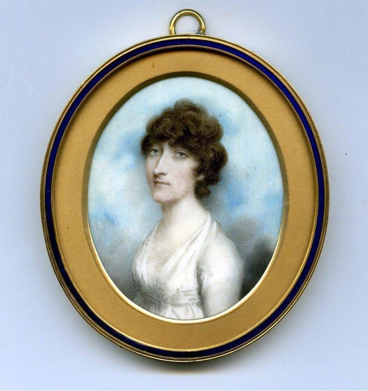 Beautiful Andrew Plimer Miniature Portrait c1795