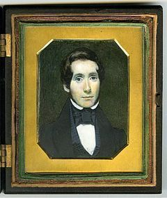 Rare Thomas LeClear American Miniature Portrait c1842