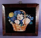 Charming Tinsel Foil Reverse Painting on Glass 19th Cen