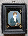 Rare Miniature Portrait of a Cabin Boy c1820