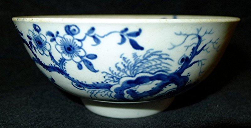 Dr. Wall Worcester Porcelain Prunus Root Bowl  c1758