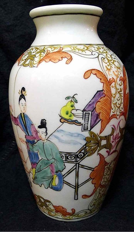 Dr. Wall Worcester Vase c1765 Beautiful and Uncommon