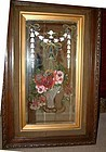 A Pair of Reverse Painted Tall Mirrors 19th C