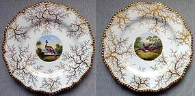 A Pair of Worcester Flight Barr Barr Plates c1820